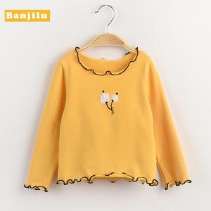 班吉鹿童装 女童长袖T恤儿童春秋装圆领打底衫小女孩宝宝洋气上衣