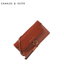 Charles & Keith Long Wallet ck6-10840095 European and American fringe decoration Vintage handbag