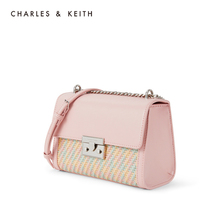 Charles & keith2020 new summer product ck2-70781202-3 women's chain flip shoulder bag