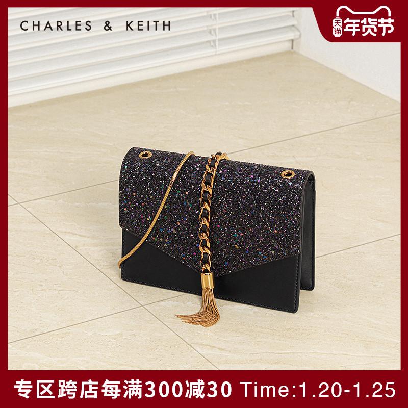 CHARLES&KEITH信封包CK2-20160030流苏链条婚包女包小方包