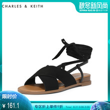 Crane & CK1-70580115 sandals, exotic wind cross ties, canvas Rome shoes