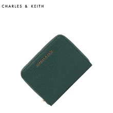 Ms. CHARLES & KEITH Wallet CK6-10770255 Euro-American Wind Multi-Card Short Zipper Wallet