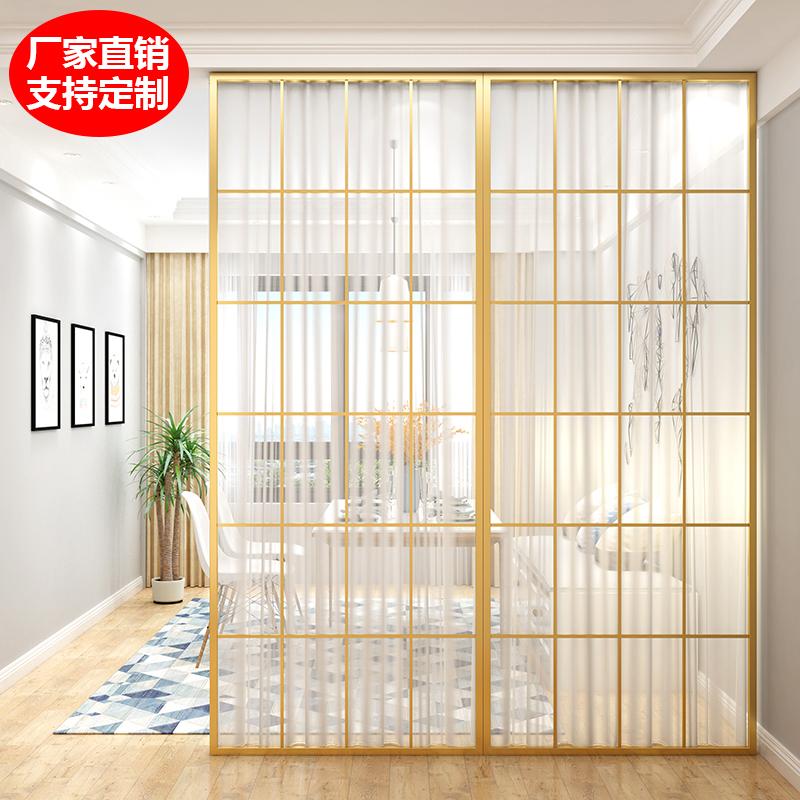 北欧屏风隔断客厅餐厅卧室遮挡 装饰墙家用 铁艺座屏现代简约屏风