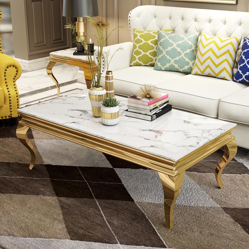 軽い贅沢なお茶の何岩の板のステンレスの大理石のヨーロッパ式の簡単で小さい部屋型の客間ktv会所のバーのお茶のテーブル