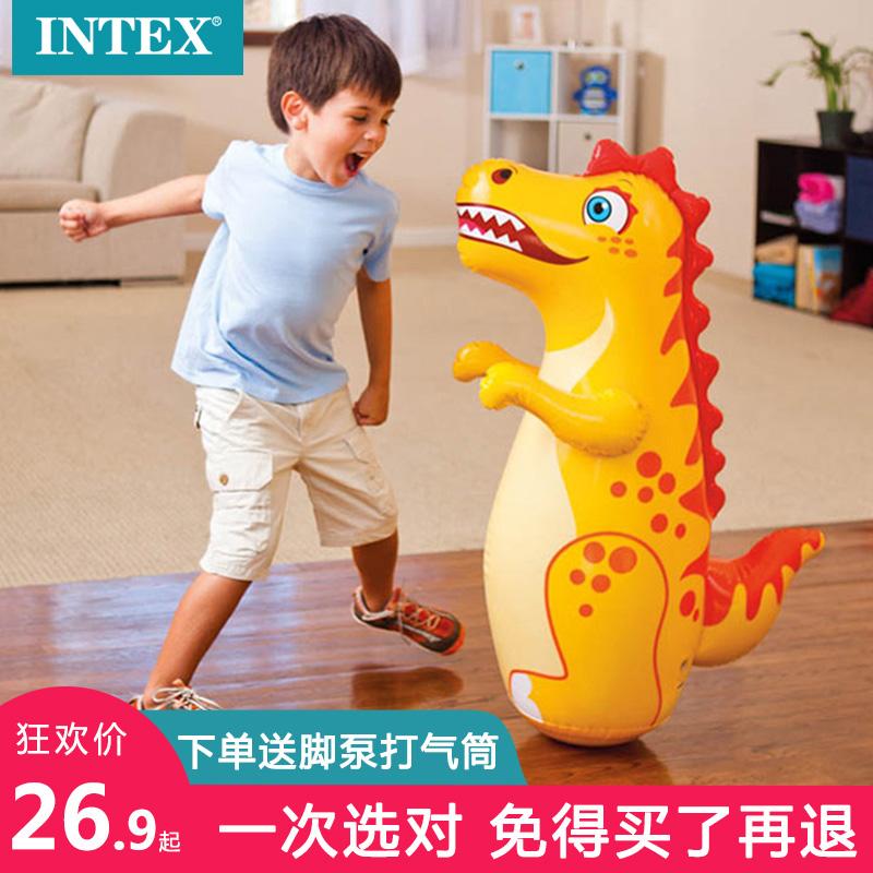 INTEX 不倒翁玩具充气宝宝大号儿童立式套娃婴儿小孩家用不倒翁