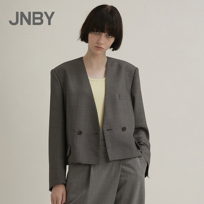 JNBY/JNBY 21 Spring New Product Suit Fashion Simple Urban Collarless Jacket Female 5KB210480zx