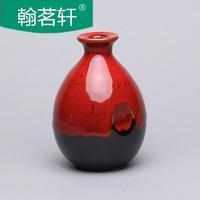 日式陶瓷酒瓶一斤白酒空瓶子仿古土陶酒坛酒罐家用小酒壶酒柜摆件
