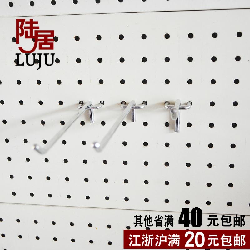 洞洞板挂钩超市货架钩子孔板手机配件小饰品展示架冲孔板三角挂钩