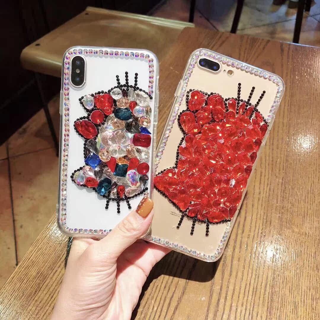 水钻kt苹果7plus手机壳全包8plus奢华囊钻卡通猫防摔套6sp女款x潮