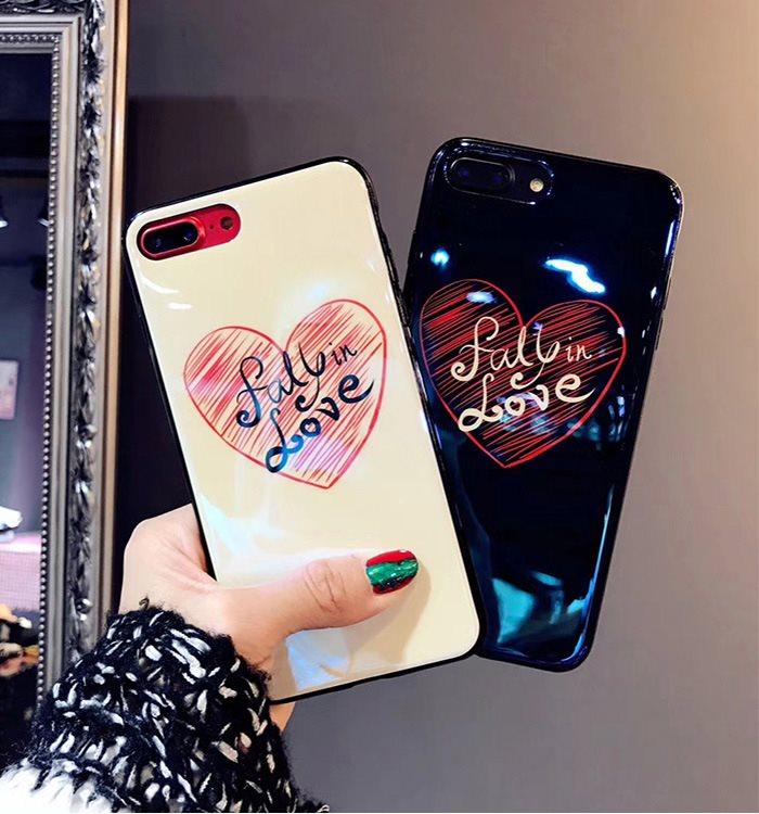 可爱情侣蓝光爱心iphone7/8/X手机壳6plus苹果6s硅胶网红抖音女款