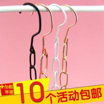 10条包邮可定制长度金属服装店铁链展示链子地摊挂衣服链条挂钩吊