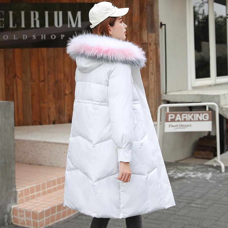 羽绒服女冬中长款韩版加厚