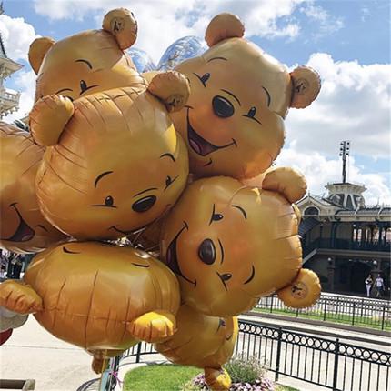 维尼熊铝膜飘空迪士尼主题氦气球