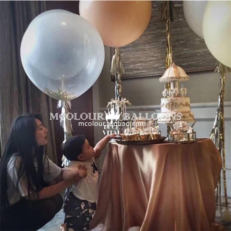 限时2件3折36英寸圆形气球周岁生日派对装饰粉色大气球婚礼婚庆结婚布置用品