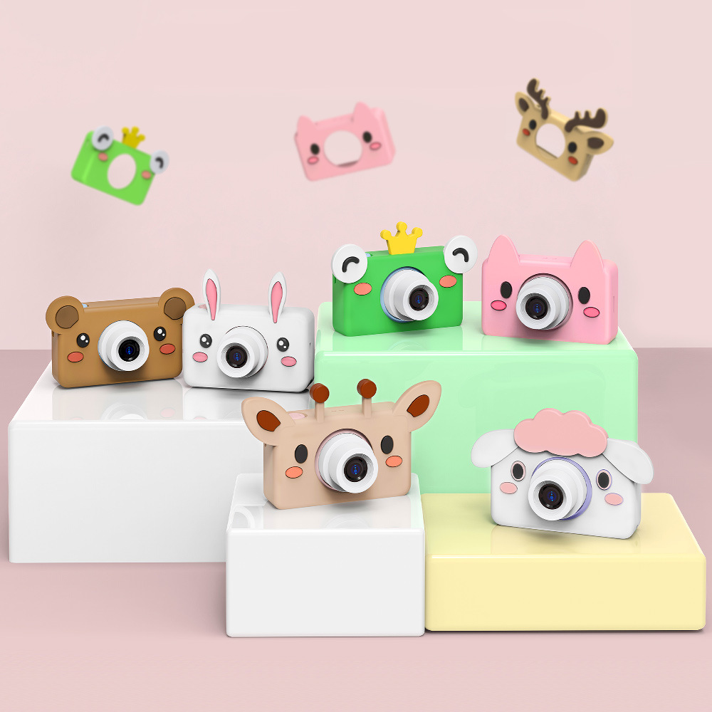 Ha Zhi childrens Mini animal camera cute digital camera can take pictures SLR cartoon baby toys