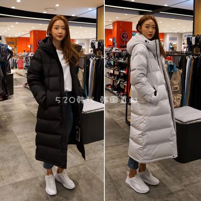 NEPA 韩国代购 男女冬季加厚过膝长款鹅绒情侣中性羽绒服 7E72010