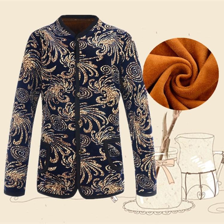 ?。中老年内衣开衫外穿开身老人上衣开襟纯棉秋衣男女士加绒。
