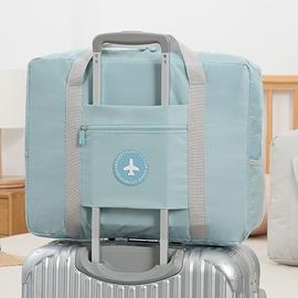 大容量旅行包女可折叠行李待产包收纳袋子便携手提简约短途拉杆包图片