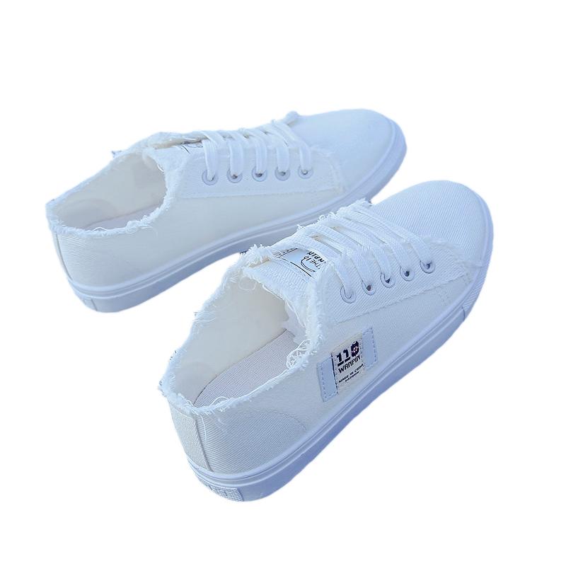 帆布鞋女学生韩版休闲平底板鞋