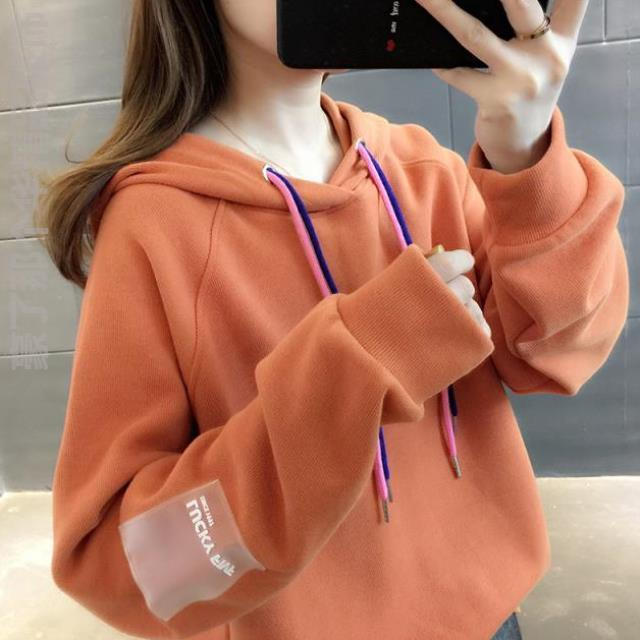 Casual top Hoodie fashion sweater 2019 new womens net red personalized college round neck fall Pullover width