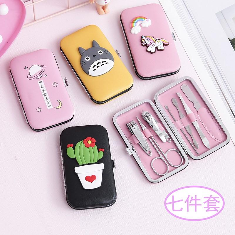 韩国创意可爱卡通指甲剪套装美甲工具指甲刀指甲钳不锈钢个人护理