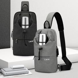 胸包男士单肩斜挎包胸前潮牌个性多功能运动休闲小跨包背包男包包