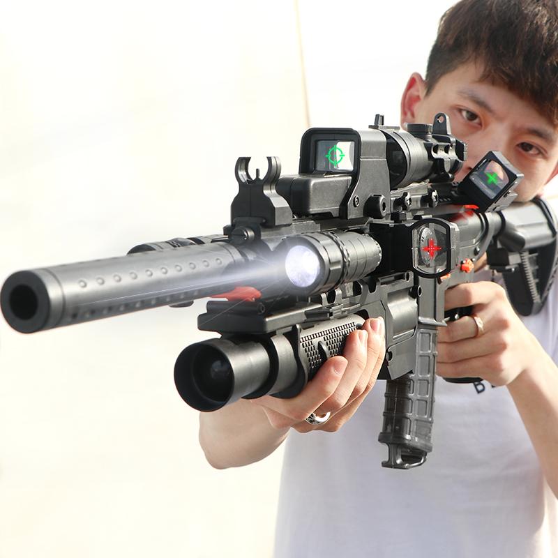 勇敢的心玩具男孩枪高科技软弹电动科学大脑超大生日全套男童