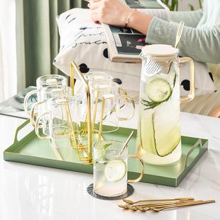 北欧家用 轻奢水具套装 客厅耐高温水壶杯具杯子茶杯带托盘套装品牌