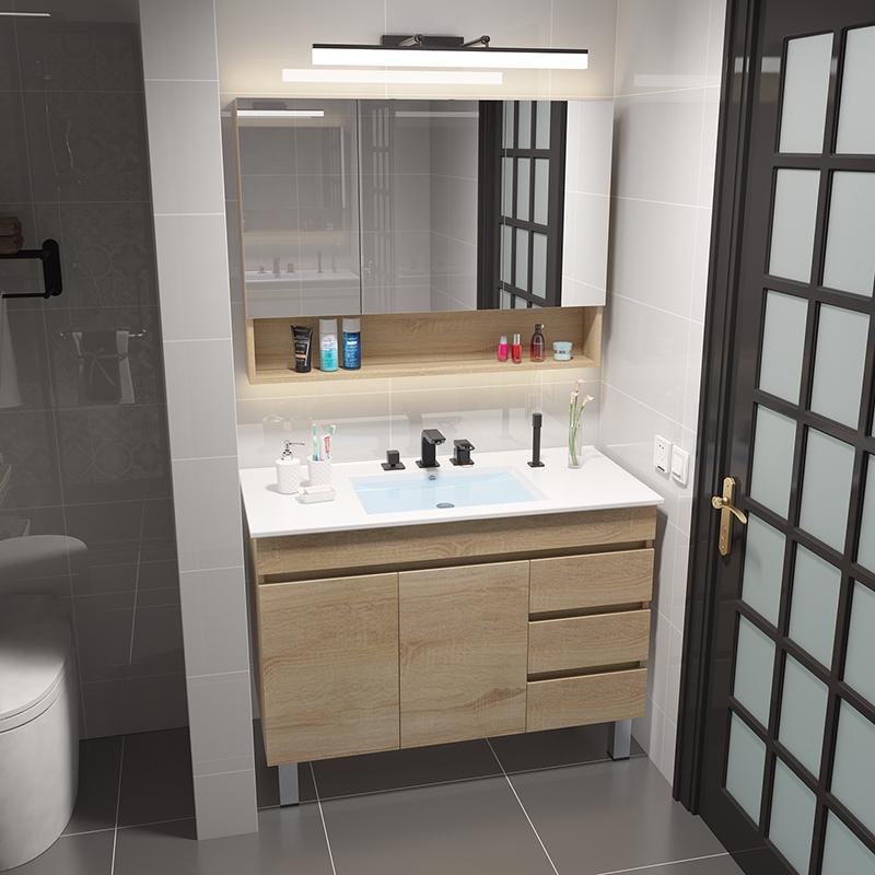 假一赔三北欧浴室柜洗手洗脸盆柜组合免漆现代简约卫生间洗漱台落地式卫浴