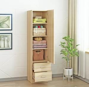 房间小柜子卧室一门迷你单门窄小型单人小衣柜木质租房占地小定制