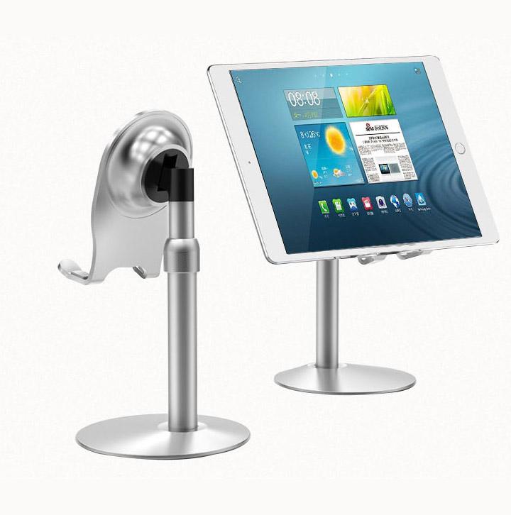 小乙铝合金手机平板桌面支架懒人通用升降直播多功能托架T4