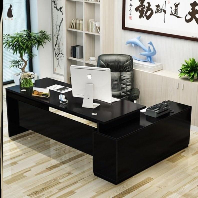 小办公桌单人迷你总经理总裁资料柜桌子主管桌中学生中国风职员桌