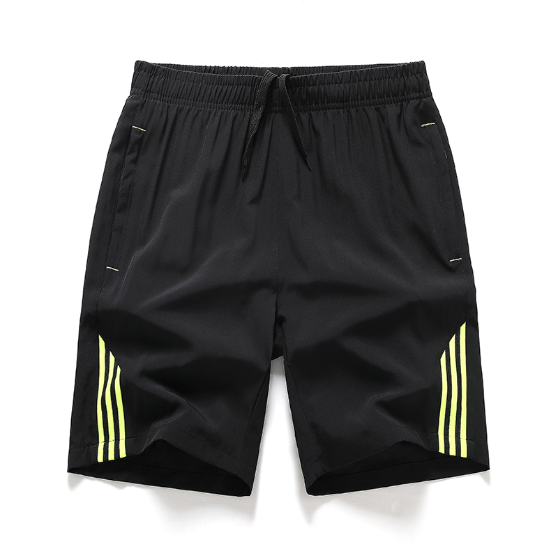 Youth shorts mens extra large quick drying beach pants fat brother stripe casual running training Capris