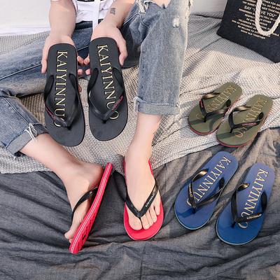 夏季人字拖男士防滑凉拖鞋外穿个性潮流夹脚室外沙滩鞋男凉鞋韩版