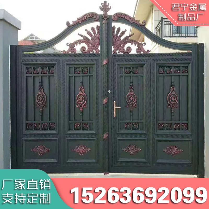 铝艺大门别墅庭院门对开门铸铝门双开铝合金艺术大门欧式院子大门