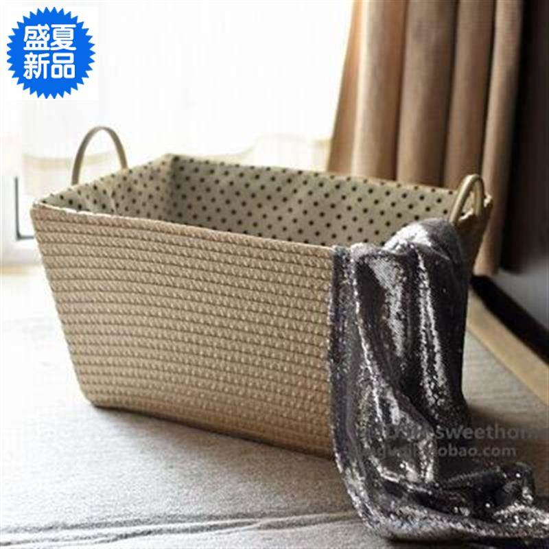 High grade super large washing household Japanese simple dirty clothes basket storage basket knitting clothes storage whole fabric toy basket management basket clothes