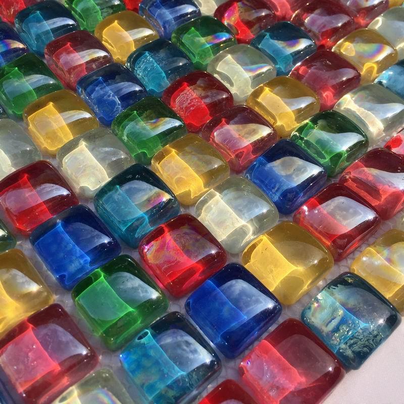 12月02日最新优惠彩虹水晶玻璃马赛克地中海背景墙贴淋浴房面包石地砖卫生间瓷砖