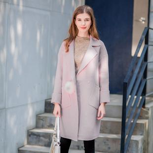 【嘉系列】羊毛女装热卖品牌折扣店2019新款冬双面呢大衣外套