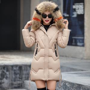 2018冬季欧美新款女式棉衣女中长款时尚修身棉袄羽绒棉服棉袄12