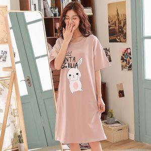 夏天薄款波点睡衣女夏宽松公主新款睡裙裙式长袖日式粉色连衣裙