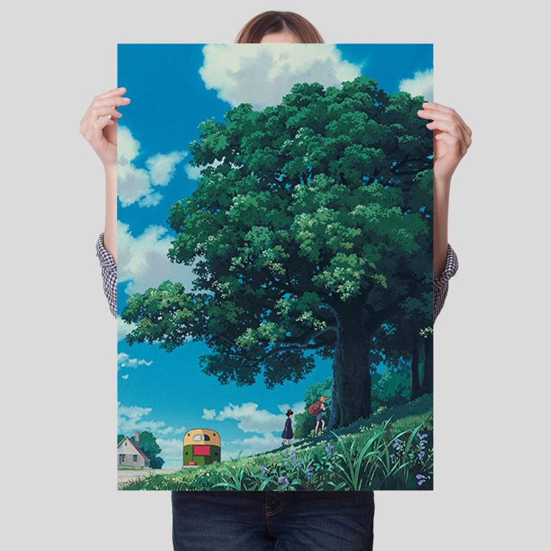 魔女宅急便动画海报宫崎骏系列高清壁纸宿舍卧室墙贴自粘装饰