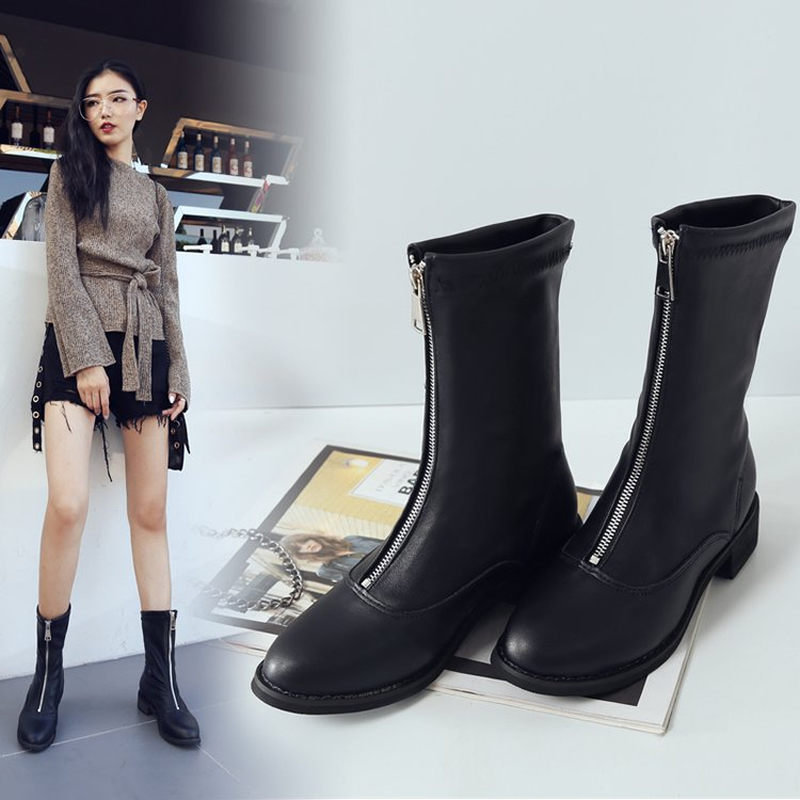 New winter Plush socks short boots high heels womens shoes skinny Martin boots versatile high heels
