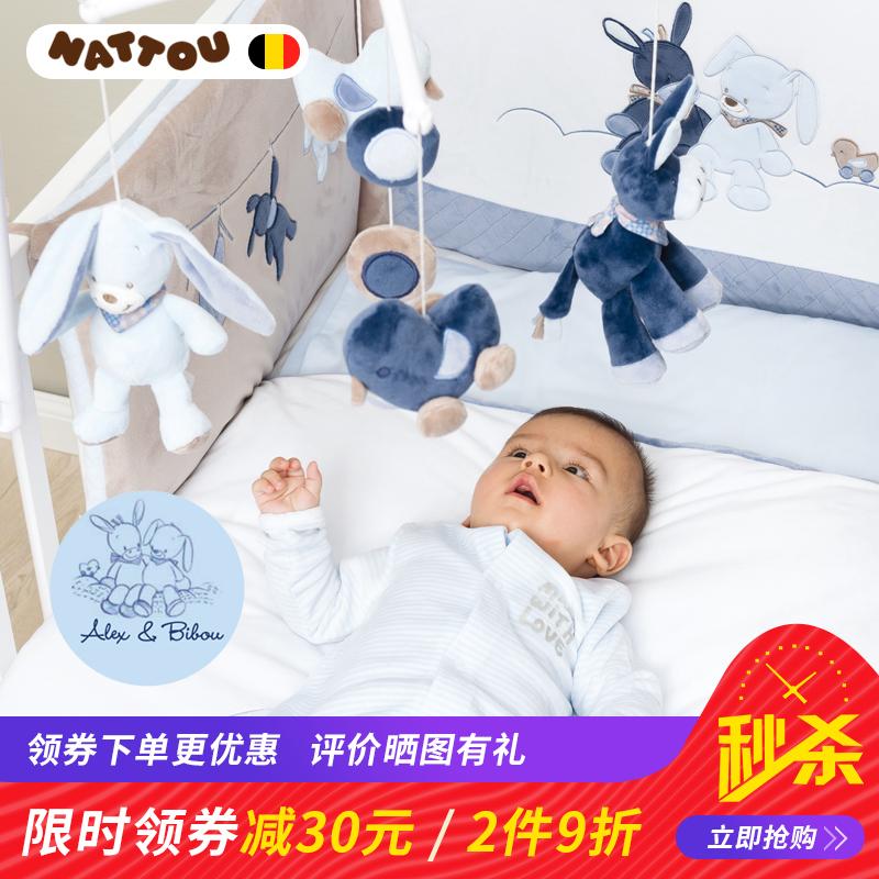 婴儿床铃玩具毛绒音乐旋转摇铃0-3-6-12个月宝宝新生儿床头铃挂件