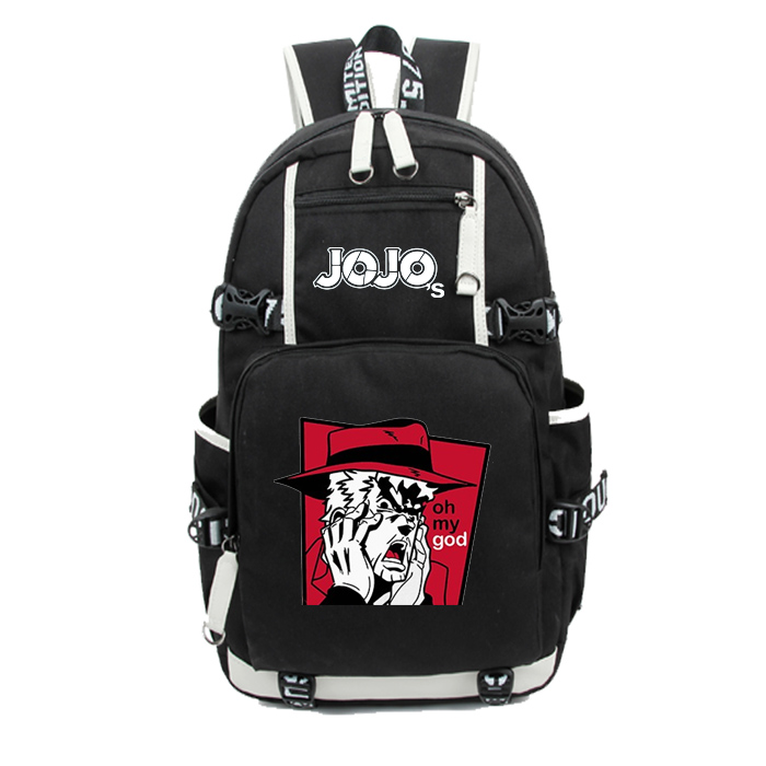 JOJOs wonderful adventure Oxford cloth animation backpack college and middle school computer schoolbag custom made