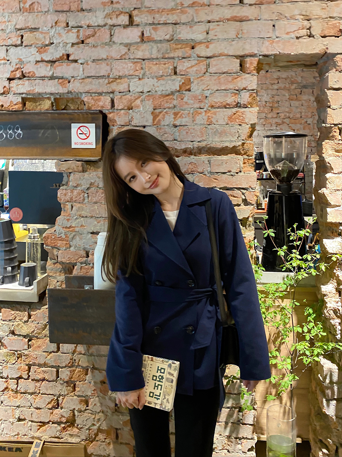 DDZA 经典短款风衣外套女小个子韩版宽松收腰显瘦英伦风气质大衣