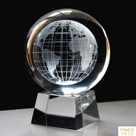 水晶球摆件3D内雕银河玫瑰花生日七夕情人节礼物定制照片log图片