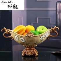 Xuan charming European fashion fruit tray Fruits basket dried fruit plate Creative modern living room hotel home soft Decoration