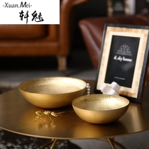 Xuan charming modern Indian pure copper decorative bowl Fruit basin Multi-functional decorative basin living room coffee table soft Decorations