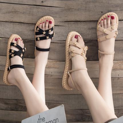 2019夏季凉鞋两穿女鞋子休闲拖鞋