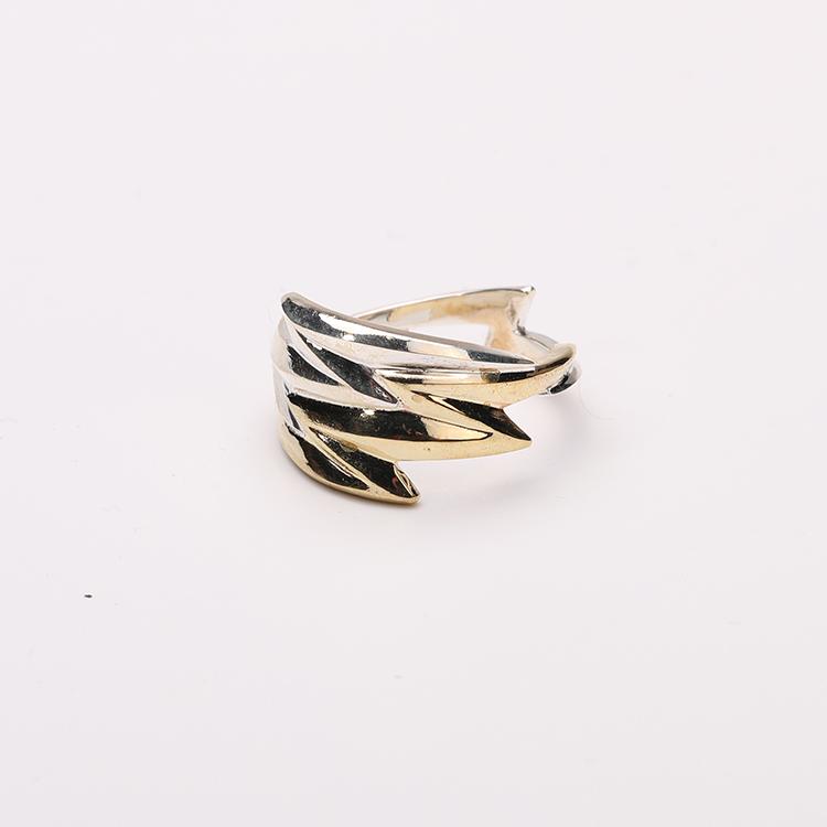 偶屿祝福系列 希腊闪电之光925银戒指原创手工银饰戒子个性指环女图片